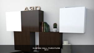 3D Object - Custom wall furniture