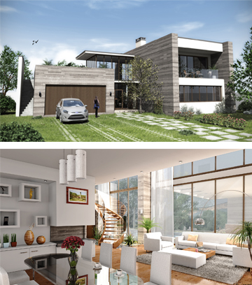 3D  Architektur-Renderings